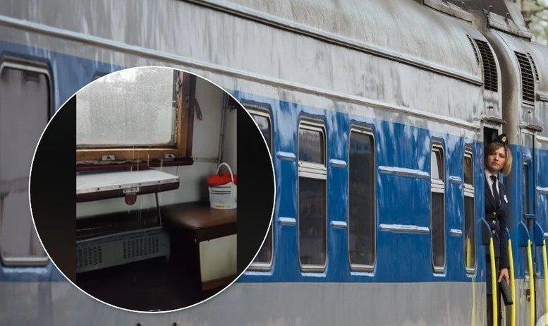 У поїзді «Укрзалізниці» дощ затопив вагон: пасажири показали відео