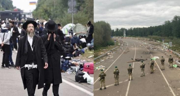 Щось пішло не так: Хасиди буквально за лічені хвилини покинули кордон України залишивши після себе тонни сміття