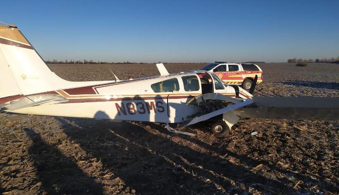 На Київщині впав літак: є постраждалі (фото)